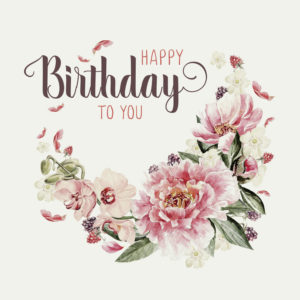 Karte Happy Birthday to you