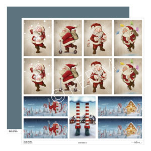Designpapier Santa